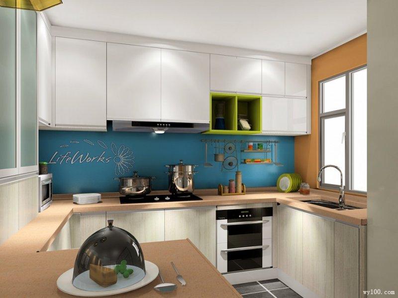 维意定制图片 开放式厨房效果图