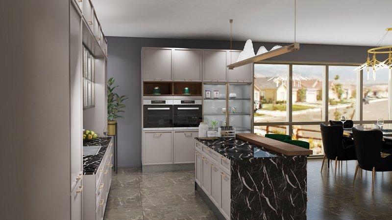 斯沃德不锈钢厨柜 风雅颂系列效果图