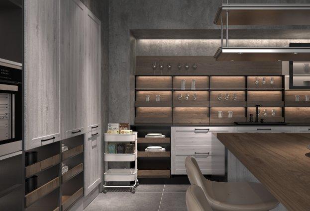 司米橱柜图片 阿萨系列橱柜效果图