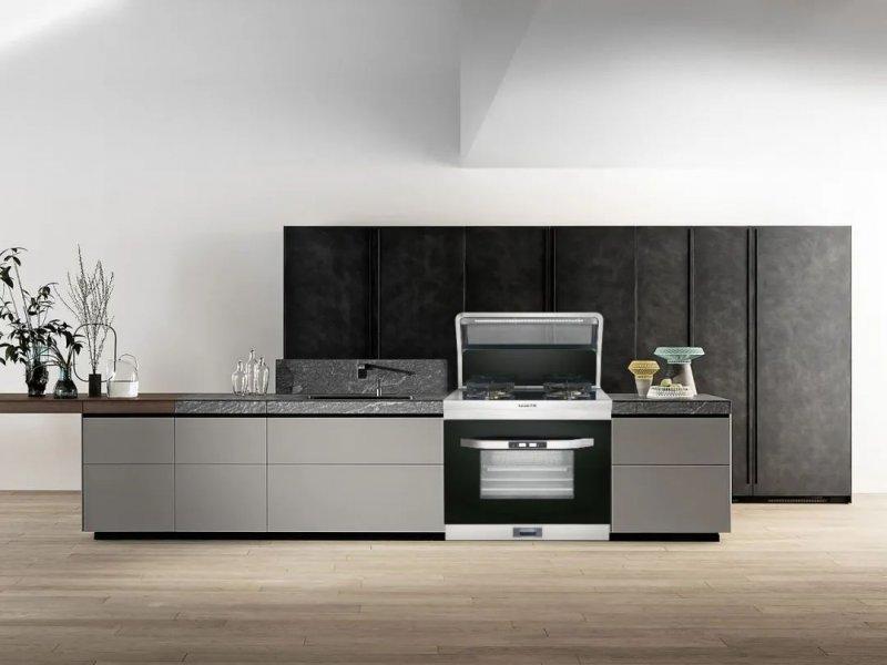 乐格集成灶产品图片  现代简约厨房装修效果图