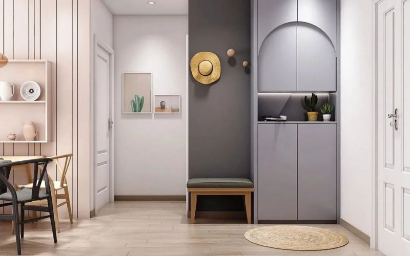 欧普玄关鞋柜设计图片 现代简约风格装修效果图