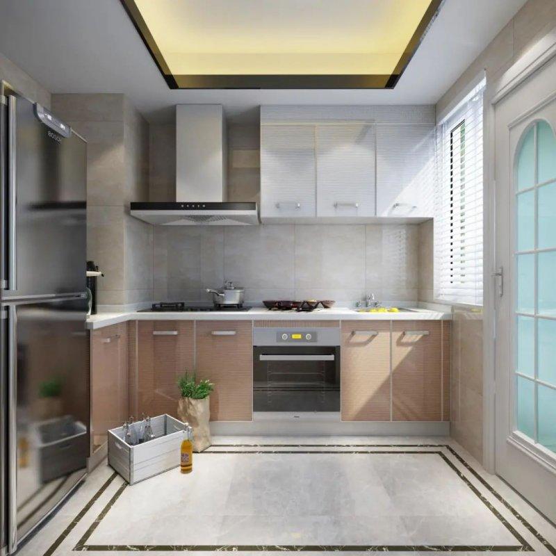 司米厨房布局设计图片 现代简约风格装修效果图