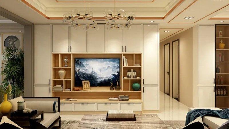 帅太电视背景墙设计图片 室内装修效果图