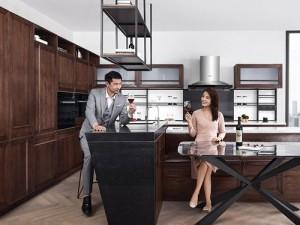 柏厨家居产品效果图 新中式实木系列橱柜图片- 连理