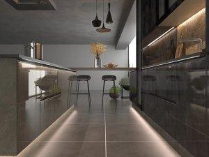 司米橱柜厨房系列图片 现代风装修效果图