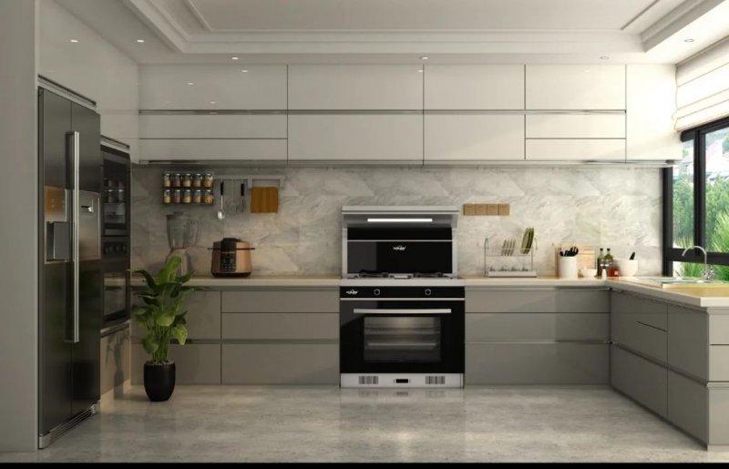 欧诺尼集成灶产品图片 现代风格厨房装修效果图