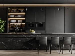 康居格林橱柜开放式厨房系列图片 现代风装修效果图