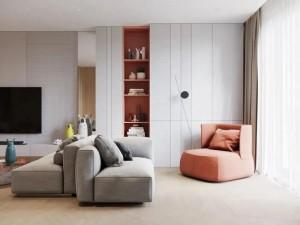 欧普厨柜下沉式客厅设计图片  简约风装修效果图