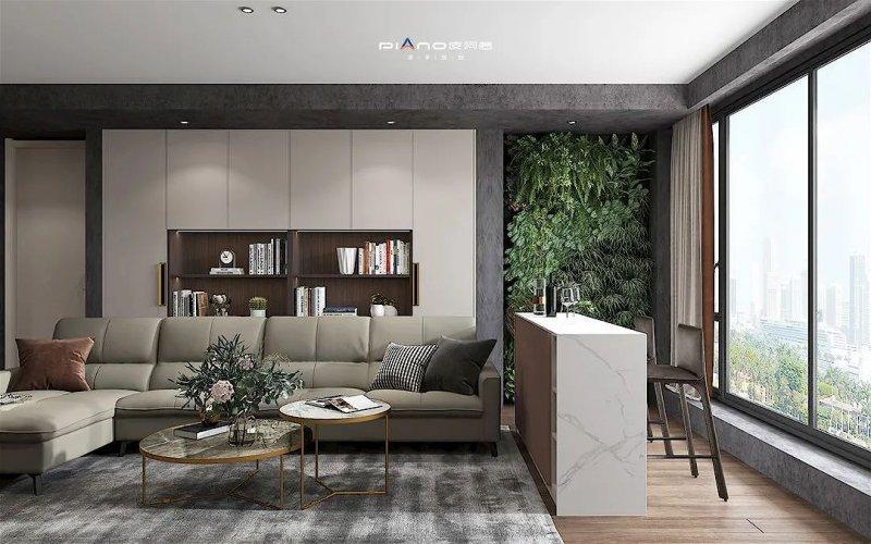 皮阿诺橱柜•全屋定制现代简约风客厅设计效果图_9