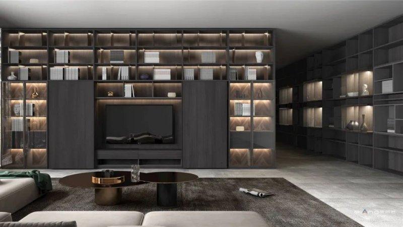 皮阿诺橱柜•全屋定制现代简约风客厅设计效果图_4