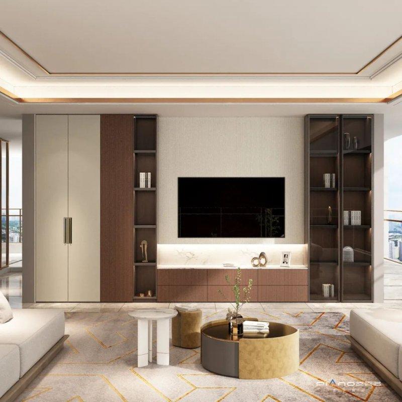皮阿诺橱柜•全屋定制现代简约风客厅设计效果图_7