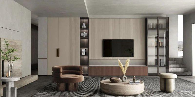 皮阿诺橱柜•全屋定制现代简约风客厅设计效果图_8