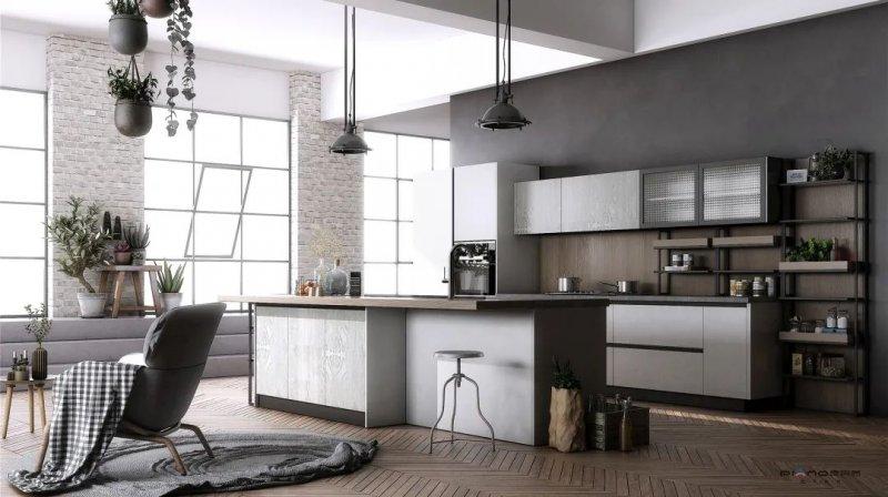 皮阿诺橱柜开放式厨房设计效果图_6