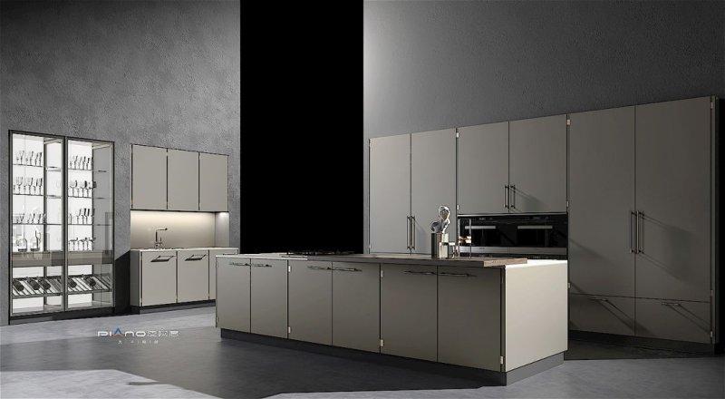 皮阿诺橱柜开放式厨房设计效果图_1