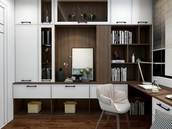 欧琳多种风格书房设计效果图_5