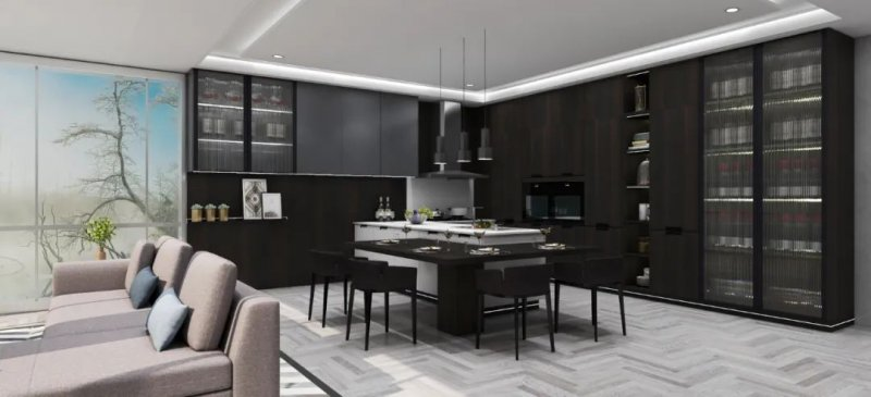澳都全屋定制北欧风格厨房装修效果图_1
