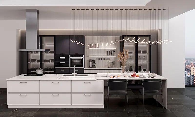 司米橱柜厨房系列图片 现代风装修效果图_14