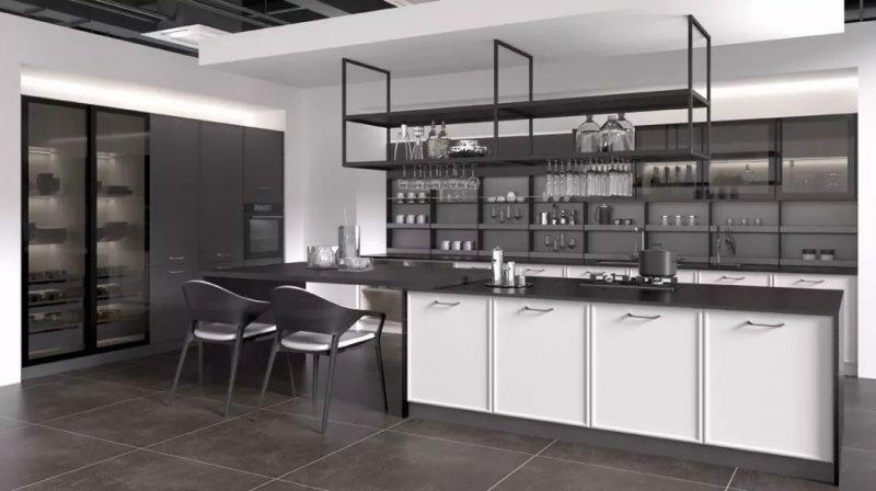 司米橱柜轻奢风格厨房装修效果图_3