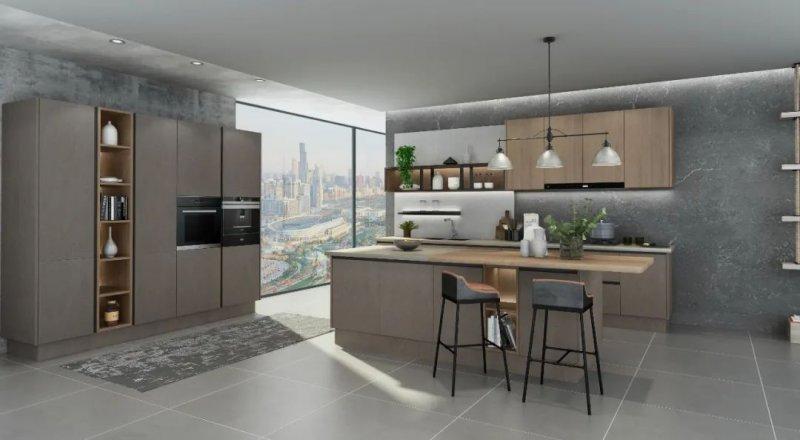 司米橱柜轻奢风格厨房装修效果图_1