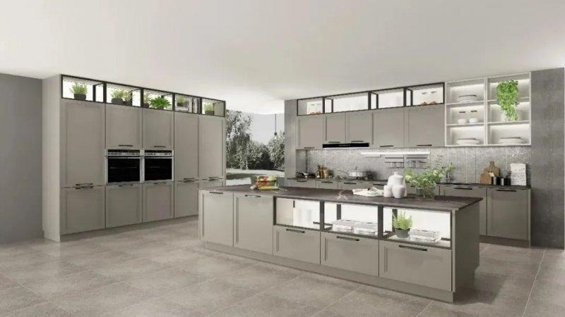 司米橱柜厨房系列图片 轻奢风装修效果图_3