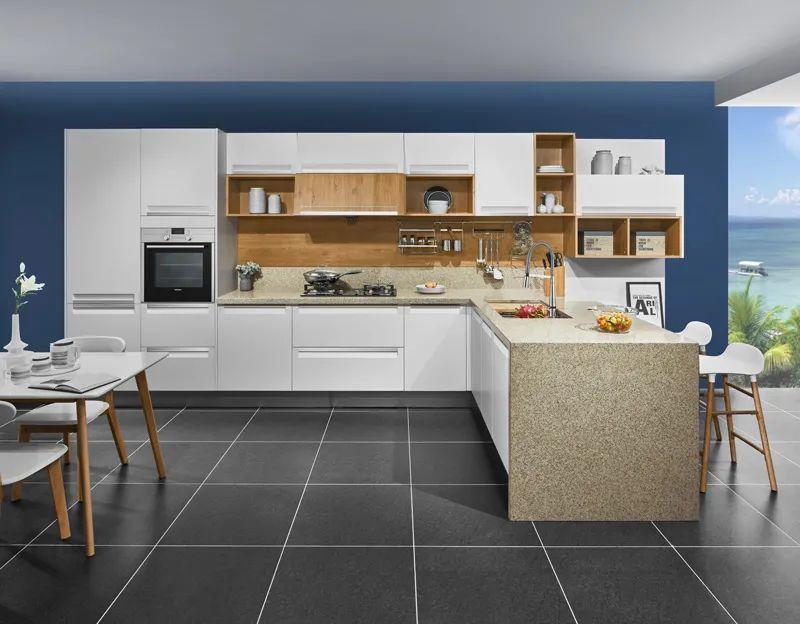 司米橱柜厨房系列图片 轻奢风装修效果图_16
