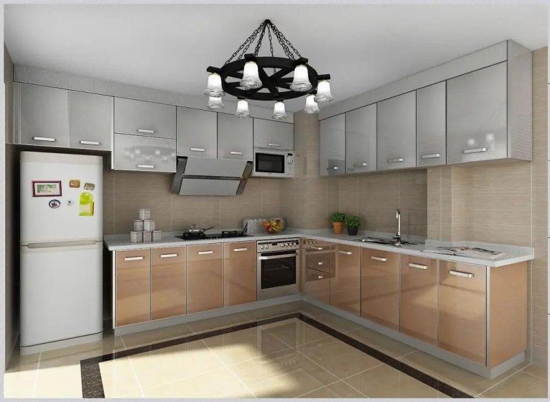 司米橱柜厨房系列图片 轻奢风装修效果图_4