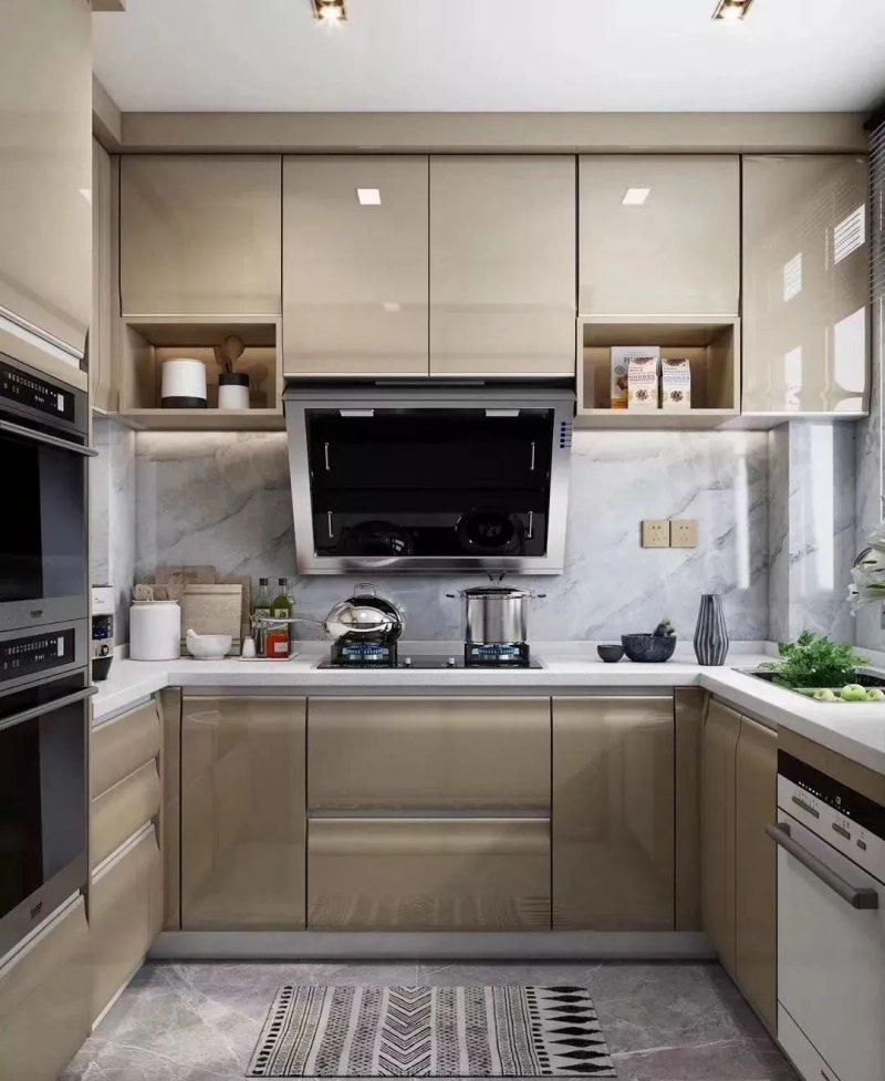 司米橱柜厨房系列图片 轻奢风装修效果图_19