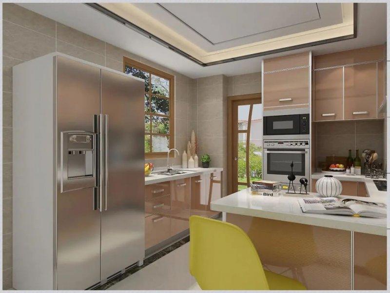 司米橱柜厨房系列图片 轻奢风装修效果图_5
