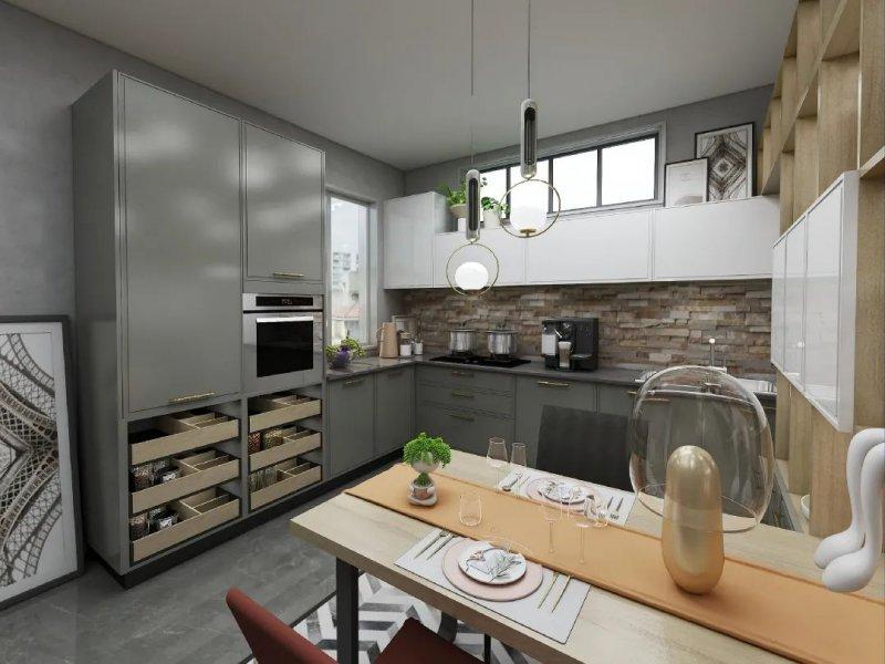 澳都厨柜衣柜厨房设计效果图_5
